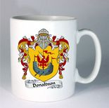 Coat of Arms Family Crest Mug, with personalised message, ref FCCM